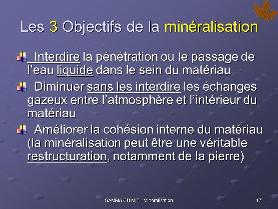 Les 3 Objectifs de la minéralisation