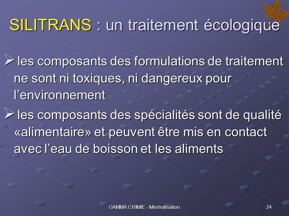 SILITRANS : un traitement écologique