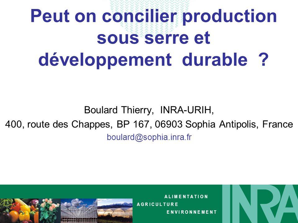 Peut on concilier production sous serre et développement durable