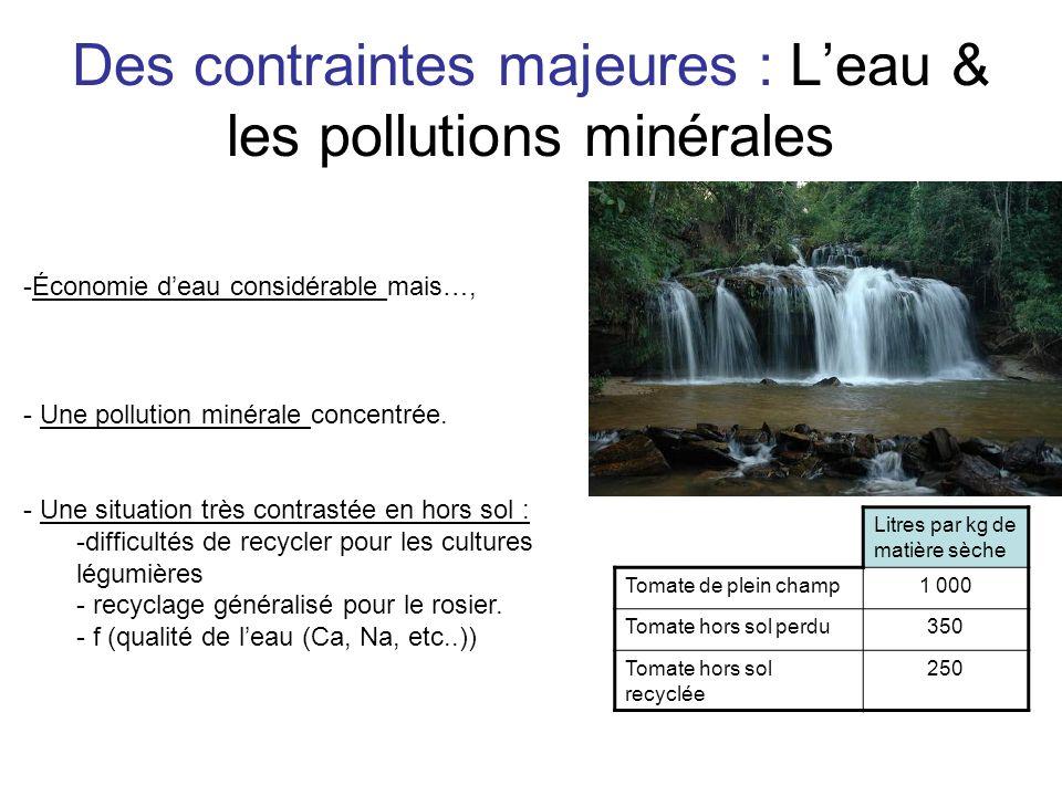 Des contraintes majeures : L'eau & les pollutions minérales