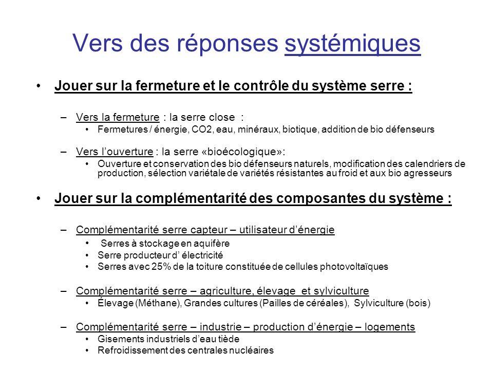 Vers des réponses systémiques