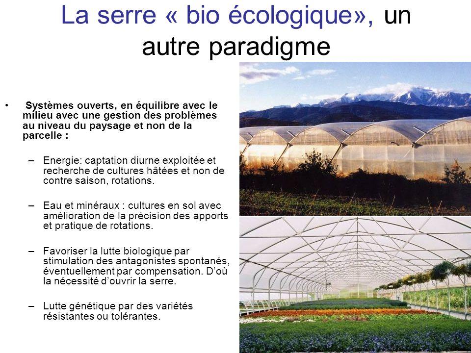 La serre « bio écologique», un autre paradigme