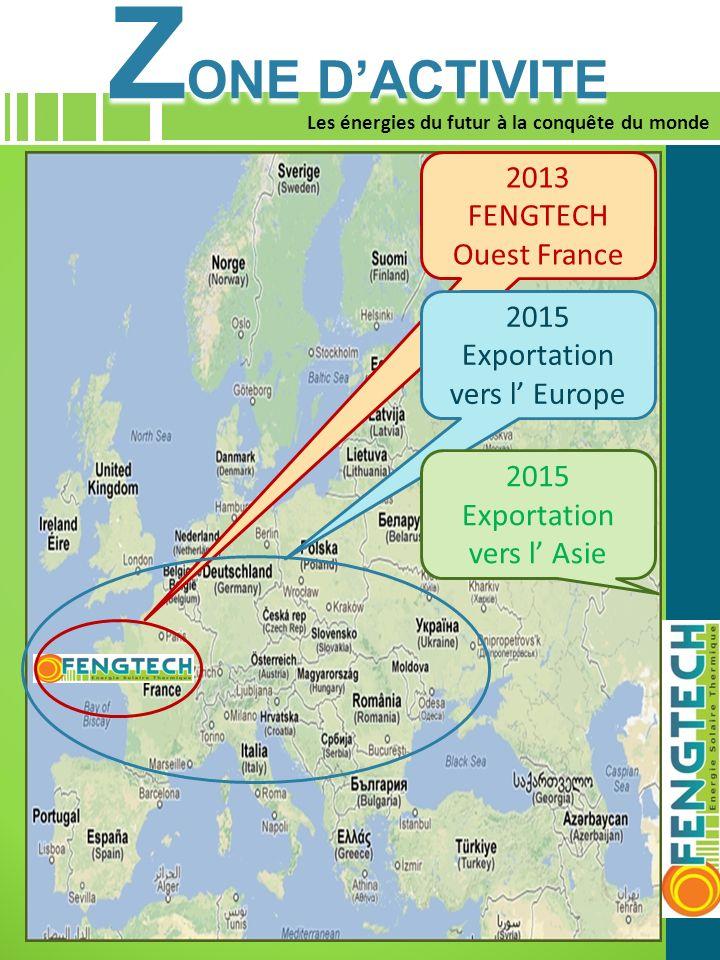 ZONE D'ACTIVITE 2013 FENGTECH Ouest France 2015 Exportation