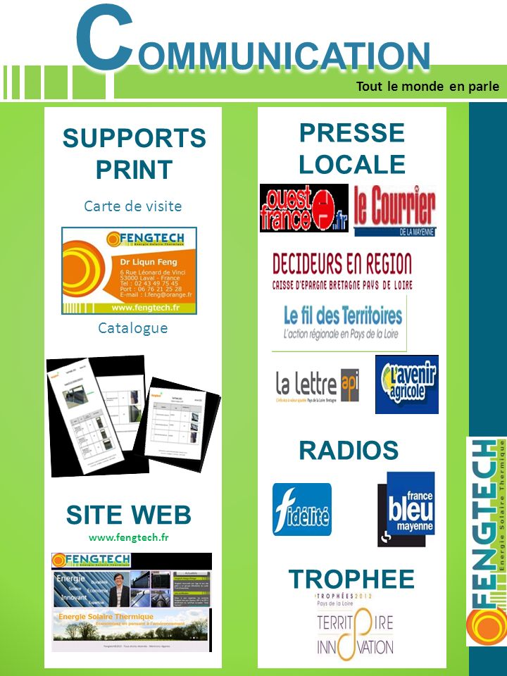 COMMUNICATION PRESSE LOCALE SUPPORTS PRINT RADIOS SITE WEB TROPHEE 1