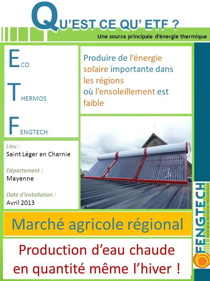 QU'EST CE QU' ETF ECO THERMOS FENGTECH Marché agricole régional
