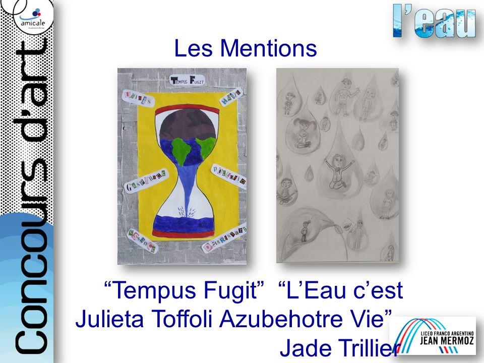 Julieta Toffoli Azubel L'Eau c'est notre Vie Jade Trillier