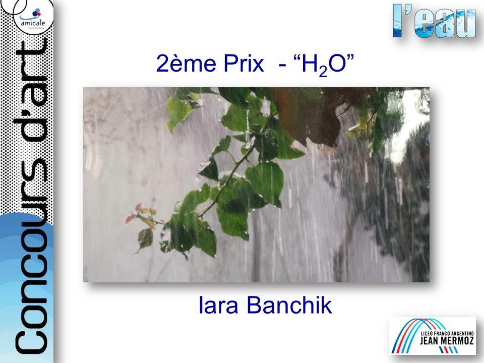 2ème Prix - H2O Iara Banchik