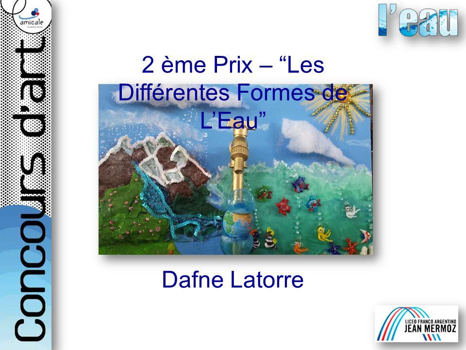 2 ème Prix – Les Différentes Formes de L'Eau