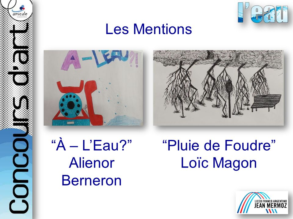 Les Mentions À – L'Eau Alienor Berneron Pluie de Foudre Loïc Magon
