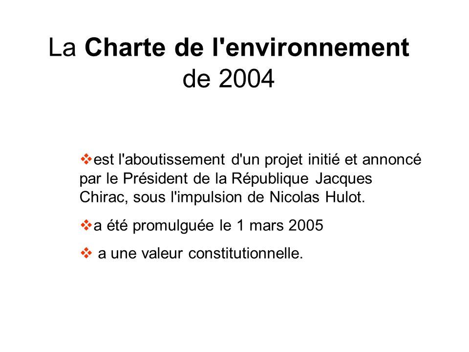 La Charte de l environnement de 2004