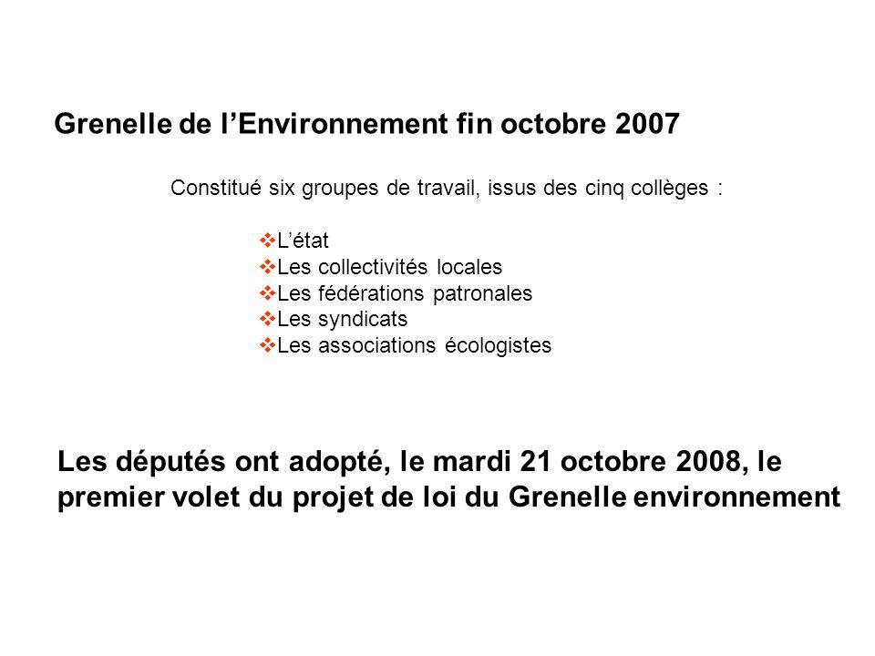 Grenelle de l'Environnement fin octobre 2007