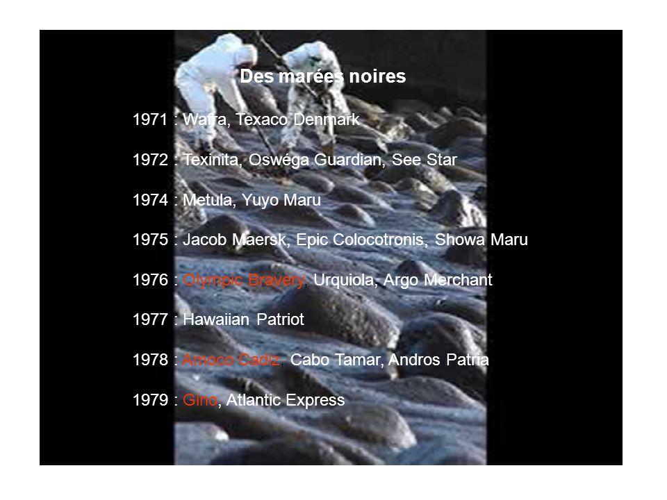 Des marées noires 1971 : Wafra, Texaco Denmark