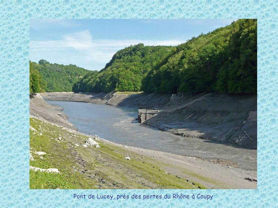 Pont de Lucey, près des pertes du Rhône à Coupy