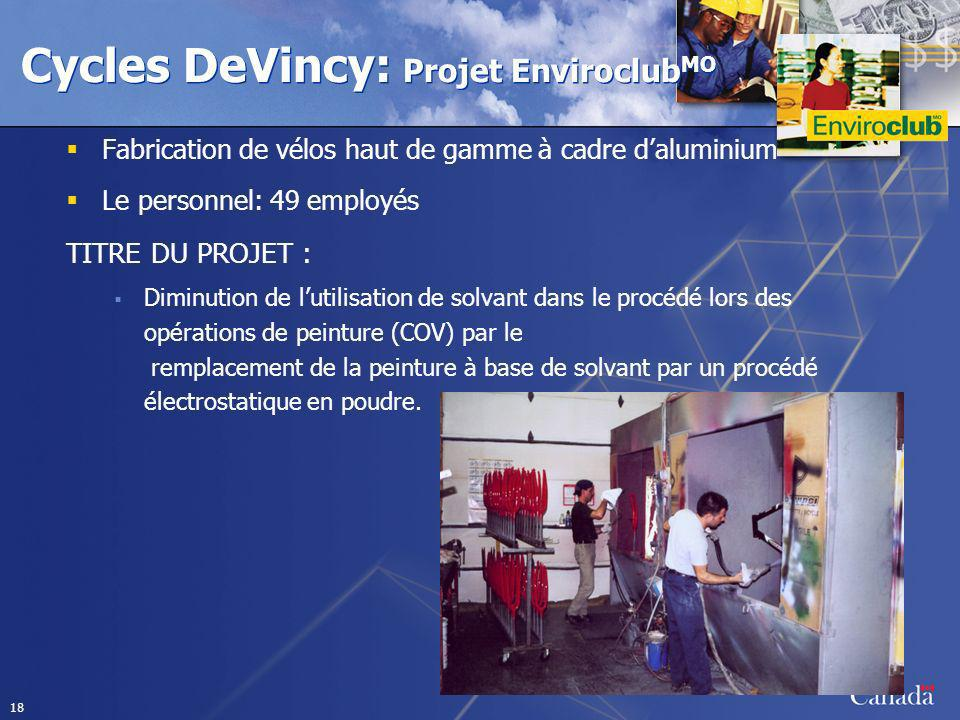 Cycles DeVincy: Projet EnviroclubMO