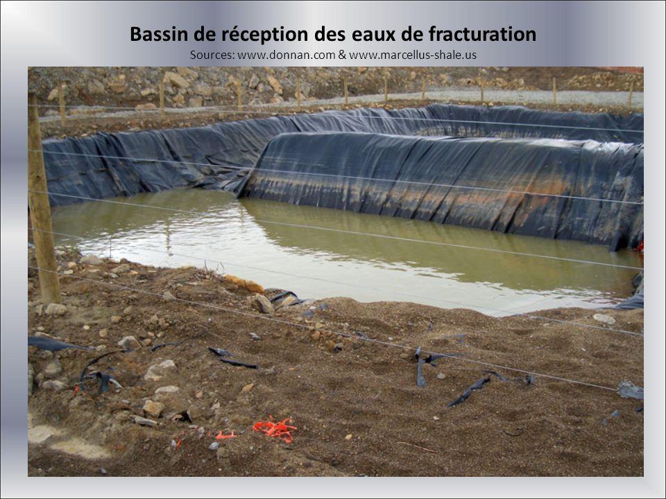 Bassin de réception des eaux de fracturation Sources: www. donnan