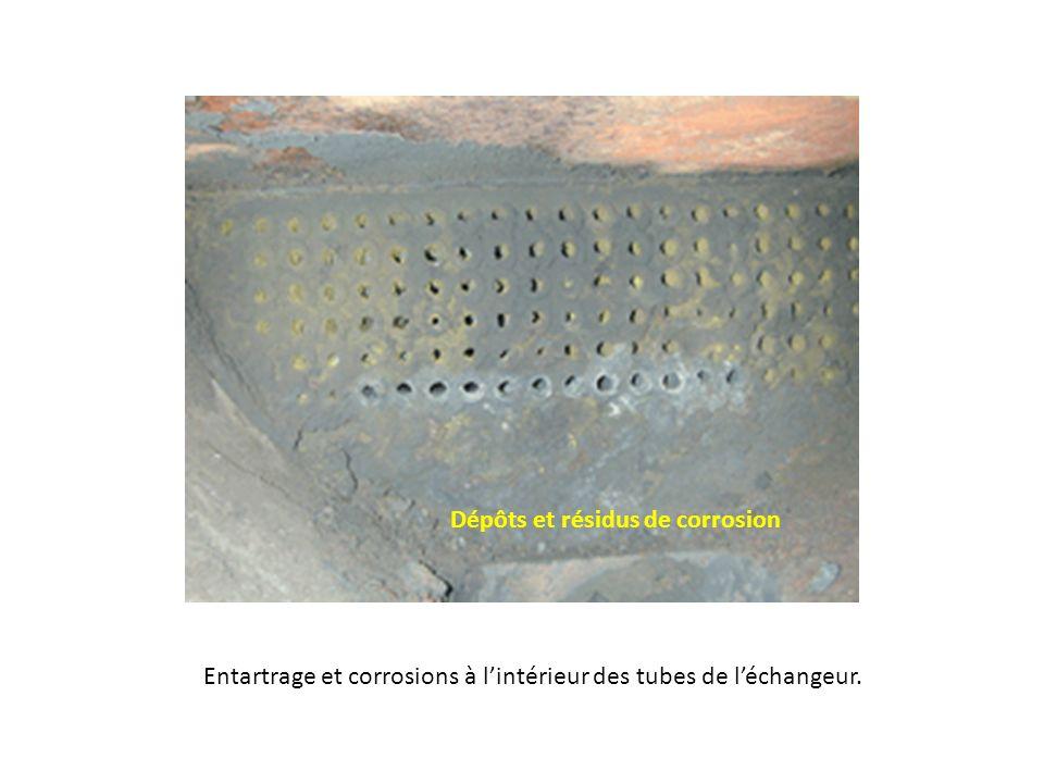 Dépôts et résidus de corrosion