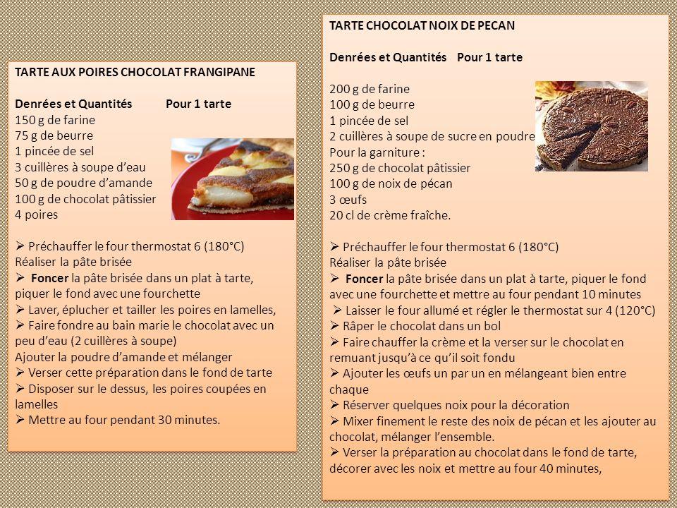 TARTE CHOCOLAT NOIX DE PECAN