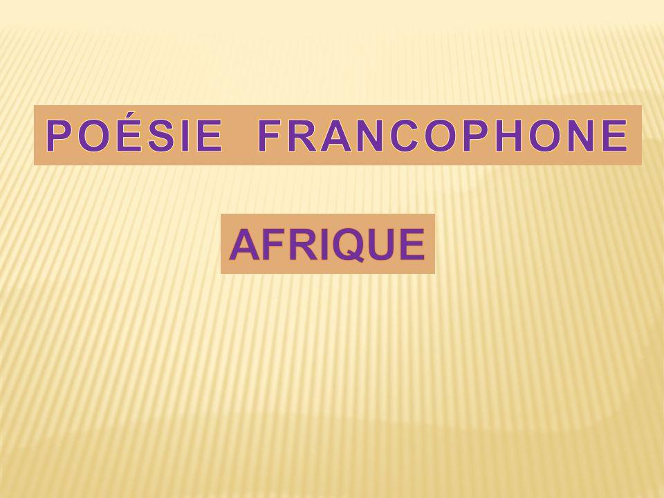 POÉSIE FRANCOPHONE AFRIQUE