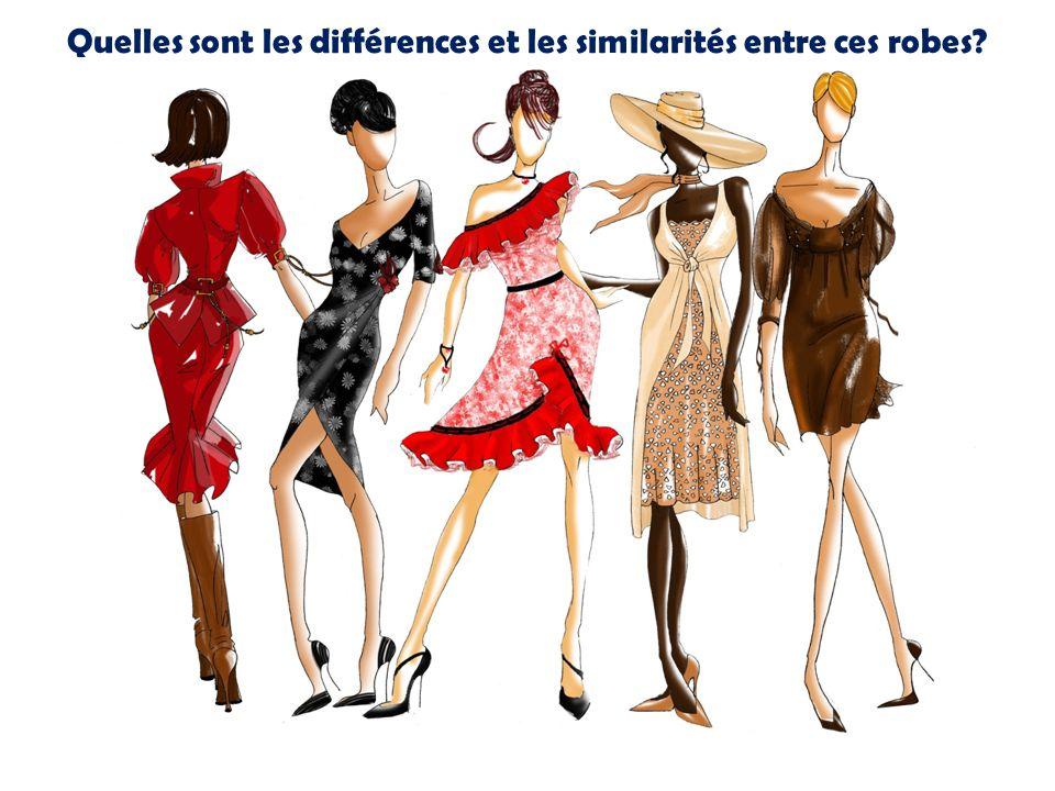 Quelles sont les différences et les similarités entre ces robes