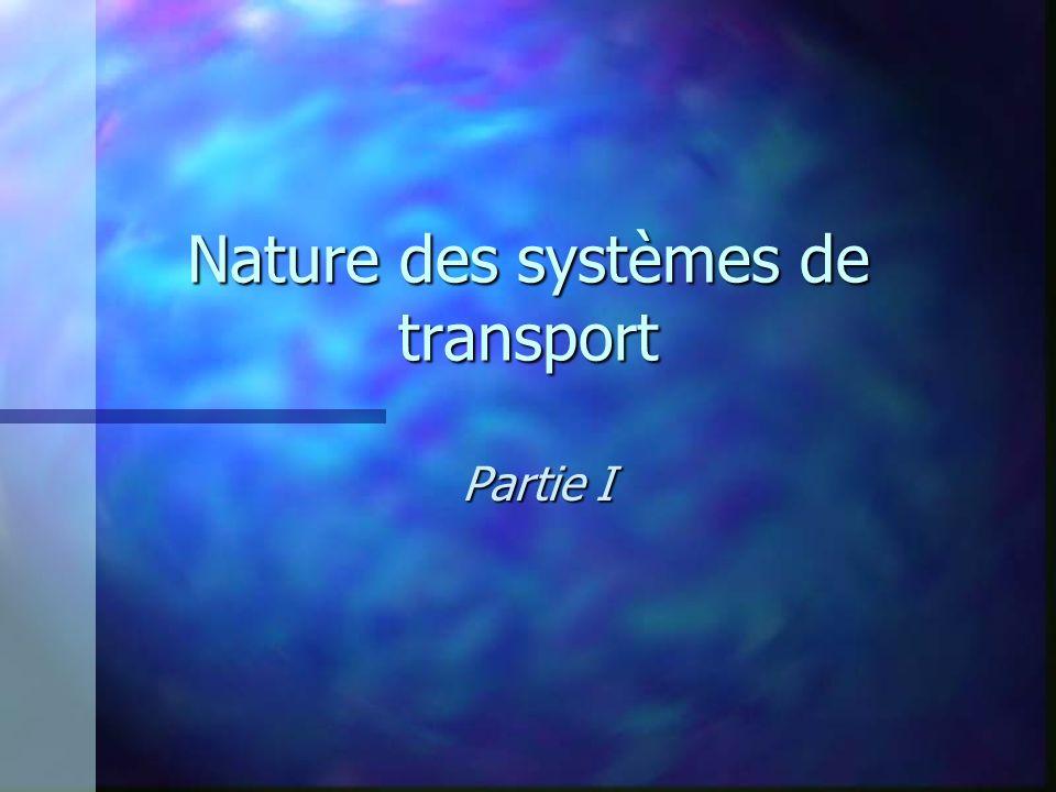 Nature des systèmes de transport