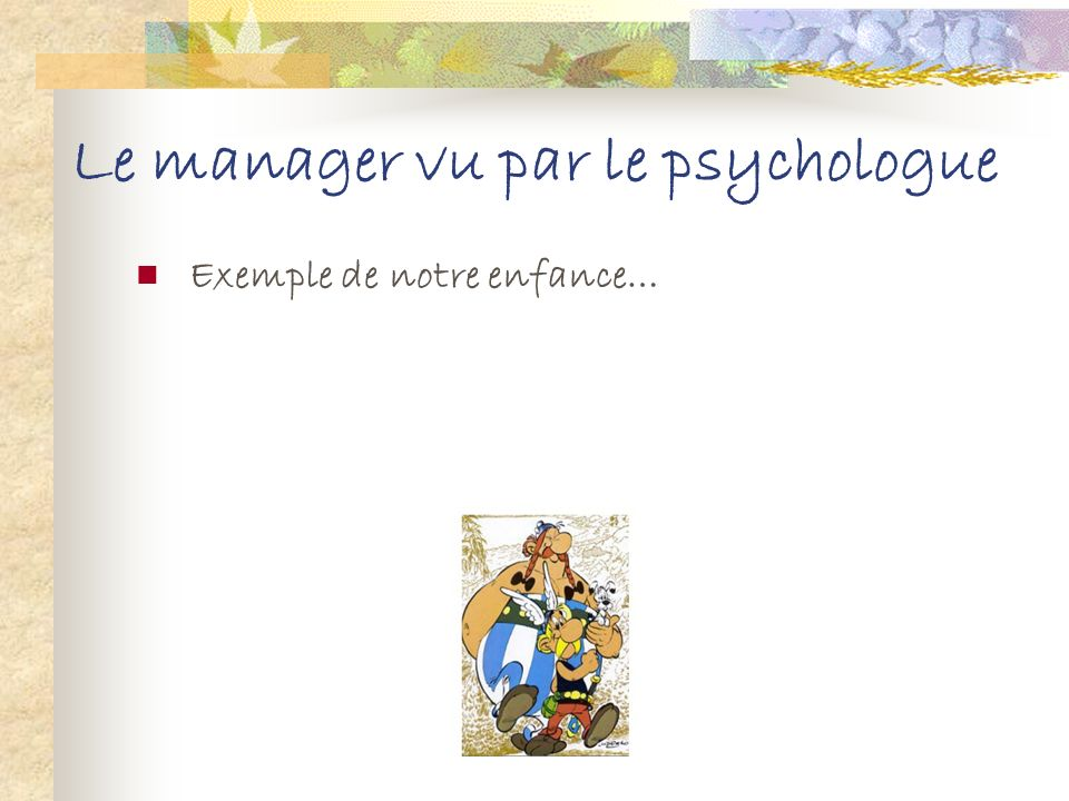 Le manager vu par le psychologue