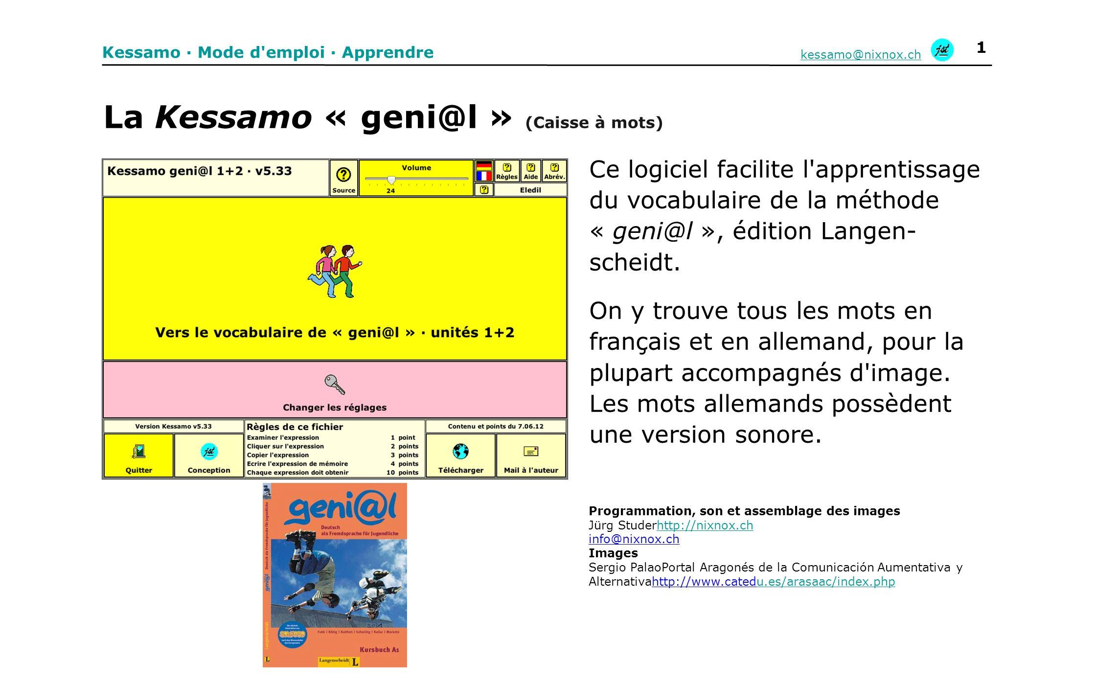 La Kessamo « geni@l » (Caisse à mots)