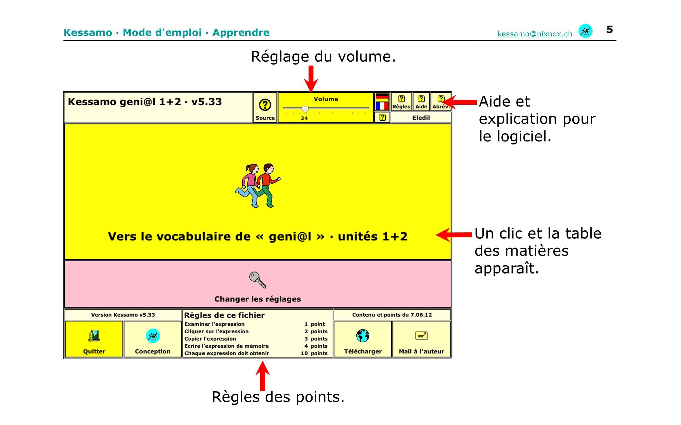 Aide et explication pour le logiciel.