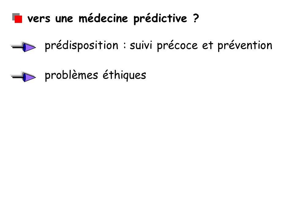 vers une médecine prédictive