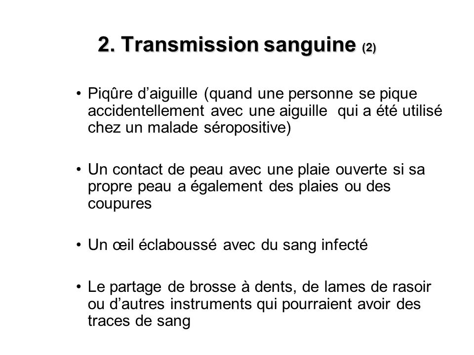 2. Transmission sanguine (2)