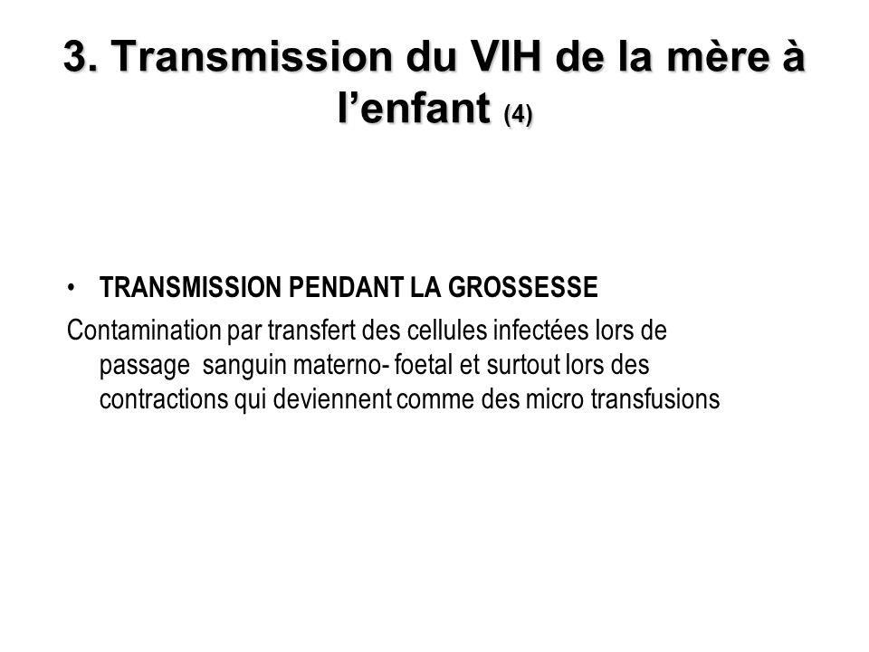3. Transmission du VIH de la mère à l'enfant (4)