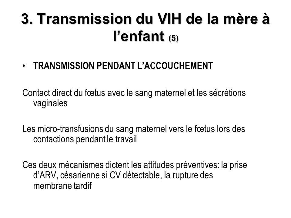 3. Transmission du VIH de la mère à l'enfant (5)