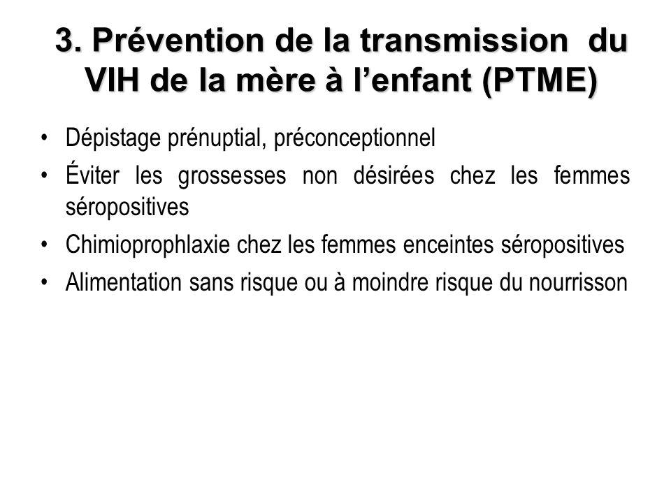 3. Prévention de la transmission du VIH de la mère à l'enfant (PTME)