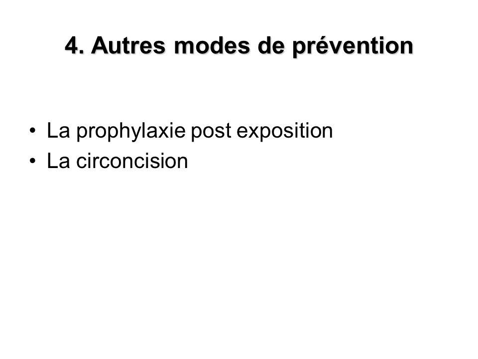 4. Autres modes de prévention