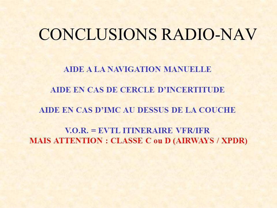 CONCLUSIONS RADIO-NAV