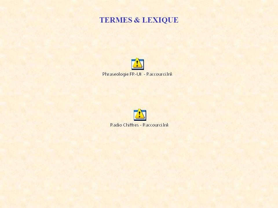 TERMES & LEXIQUE