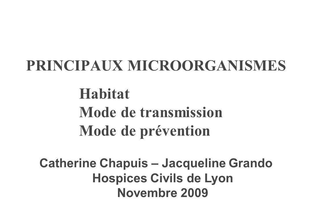 PRINCIPAUX MICROORGANISMES