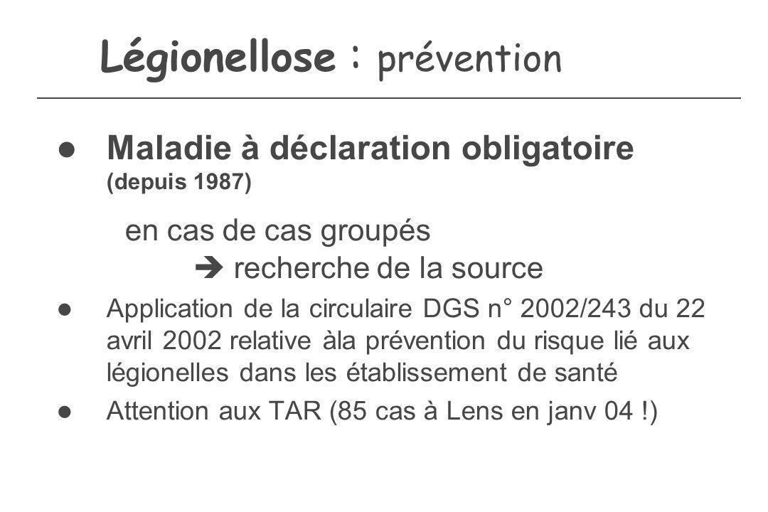 Légionellose : prévention