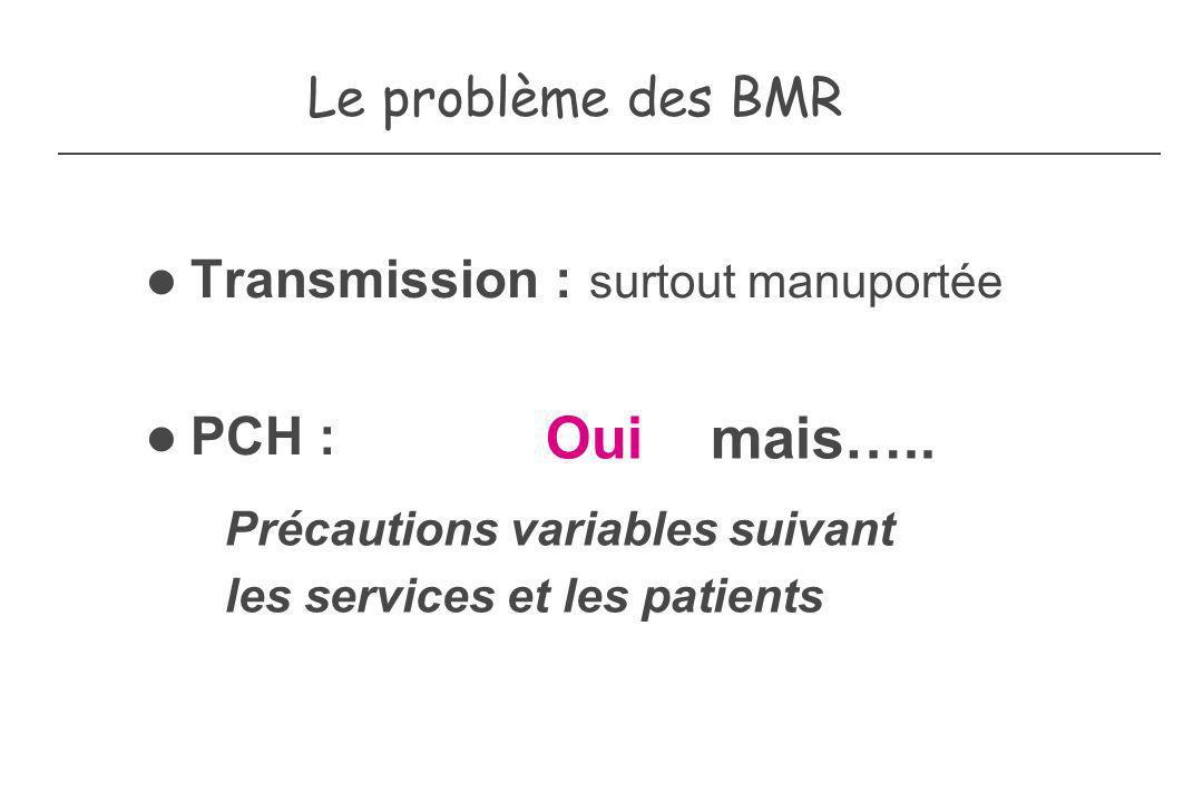 Précautions variables suivant les services et les patients