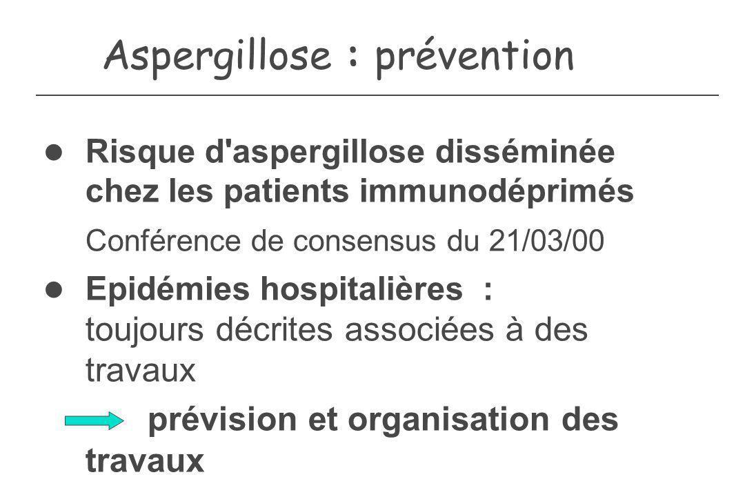 Aspergillose : prévention