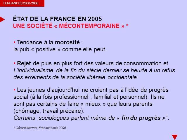 ÉTAT DE LA FRANCE EN 2005 UNE SOCIÉTÉ « MÉCONTEMPORAINE » *
