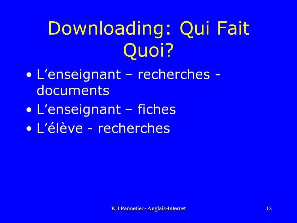 Downloading: Qui Fait Quoi