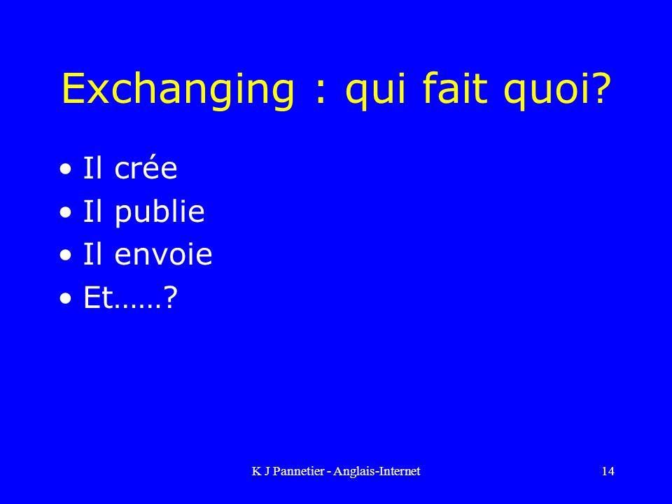 Exchanging : qui fait quoi