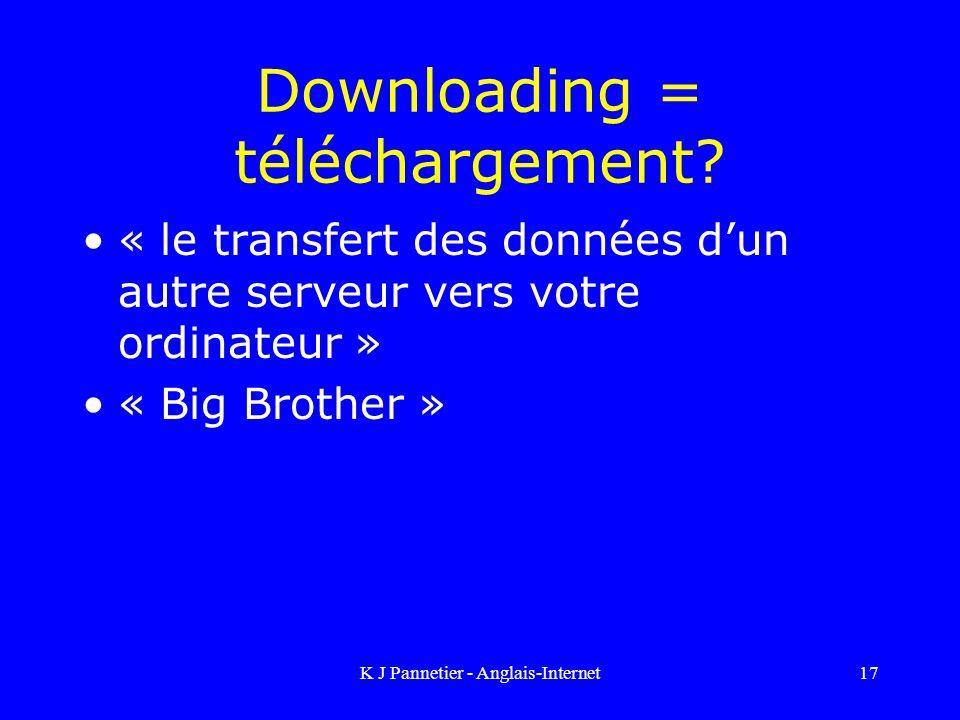 Downloading = téléchargement