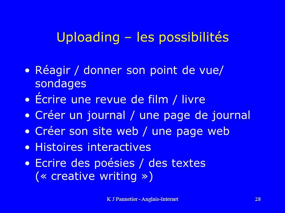 Uploading – les possibilités