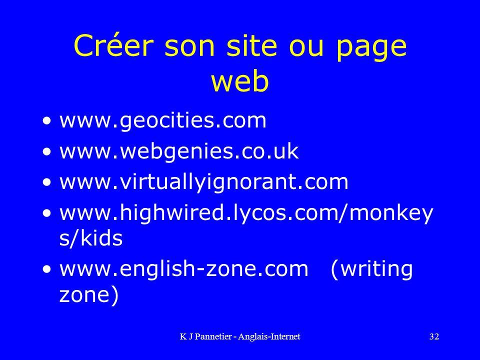 Créer son site ou page web