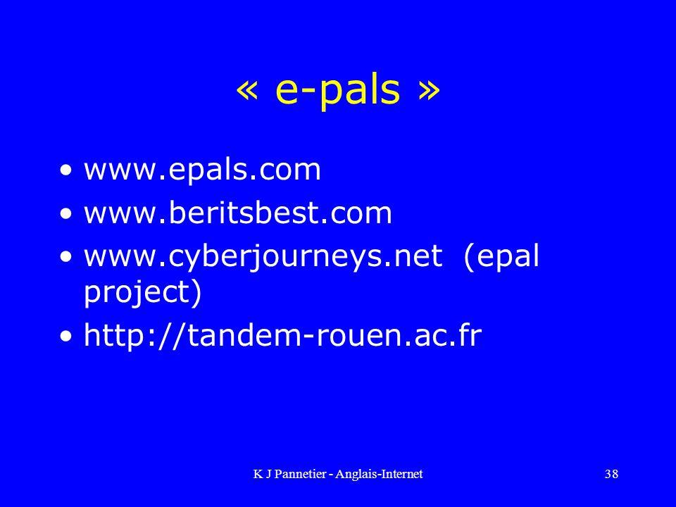 K J Pannetier - Anglais-Internet