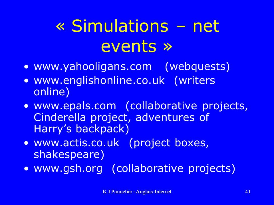 « Simulations – net events »
