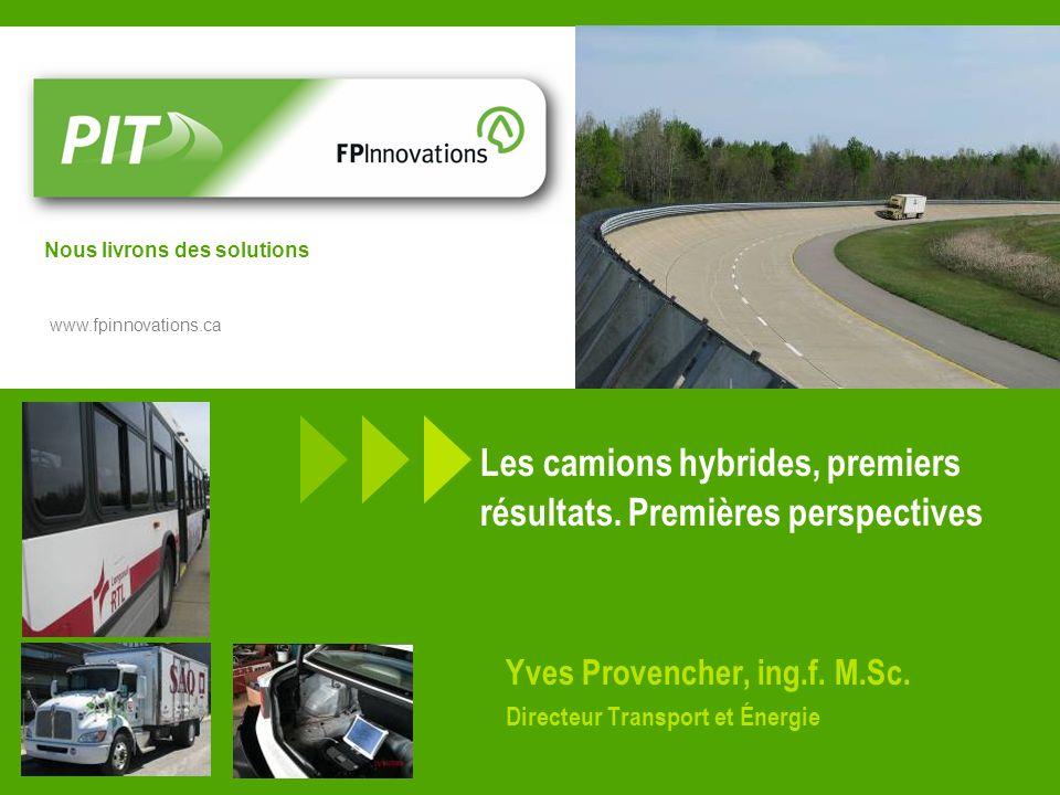 Les camions hybrides, premiers résultats. Premières perspectives