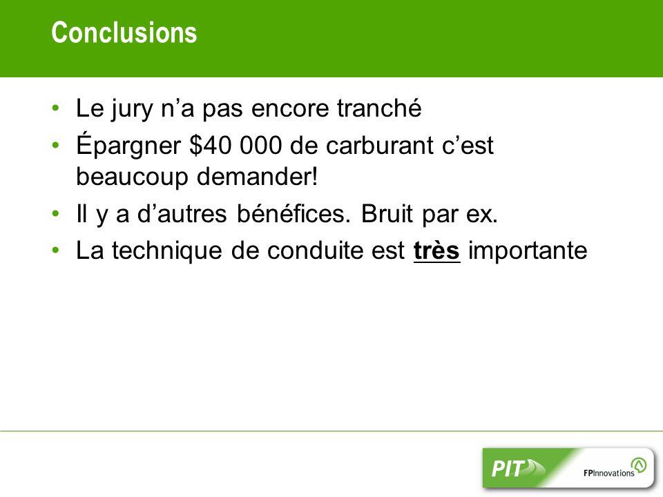 Conclusions Le jury n'a pas encore tranché