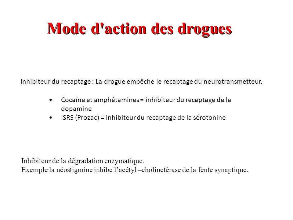 Mode d action des drogues